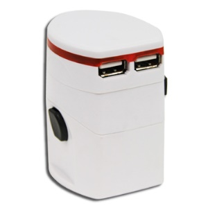 Universal World Travel Adapter 2 with USB Charger