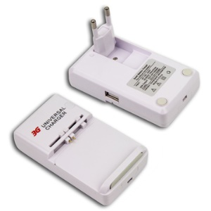 3G Universal Travel Charger with USB Charger (EU Plug)