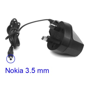 Nokia Travel Wall Charger 3.5mm Plug for Nokia 2610 7210 9300 E70 etc - UK Plug