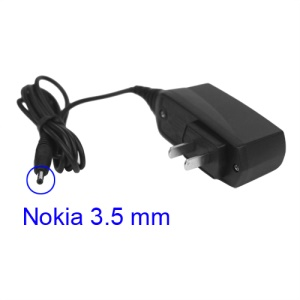 Travel Wall Charger 3.5mm Plug for Nokia 1600 3120 6030 6600 7210 9300 etc - US Plug