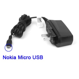 Nokia Micro USB Wall Travel Charger for N900 N8 E72 N97 E7 C5-03 7230 - US Plug