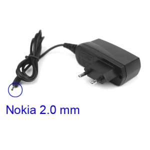 Nokia Travel Wall Charger 2.0mm Charging Interface for N95 N73 E71 5230 6300 - Euro Plug
