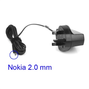 Nokia Wall Travel Charger 2.0mm Charging Connector for N95 N93 E61 E71 - UK Plug