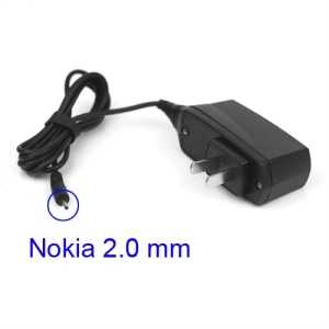 Nokia Wall Travel Charger 2.0mm Charging Connector for N95 N93 E61 E71 - US Plug