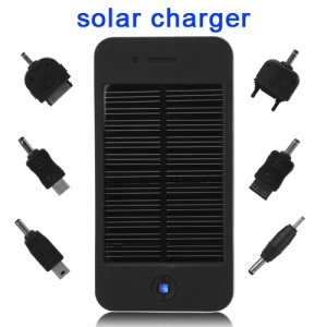 Solar Power Charger Battery for Mobile Phone / GPS / MP4 / Digital Camera 4000mAh - Black