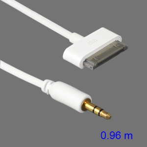Dock Connector to AUX 3.5mm Male Audio Cable for iPhone iPod iPad