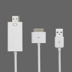 Apple 30 Pin to USB and HDMI Adapter Cable