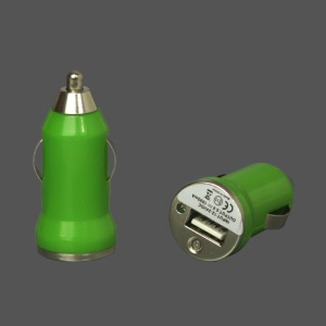 5V-1A Universal USB Car Socket Charger for iPhone 4 4S 3G 3GS iPod Samsung HTC etc - Green