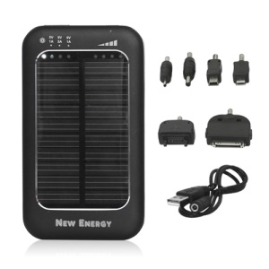 Solar Charger Battery 3500mAh Battery for iPhone 4S The New iPad Samsung i9300 Galaxy S 3 etc - Black