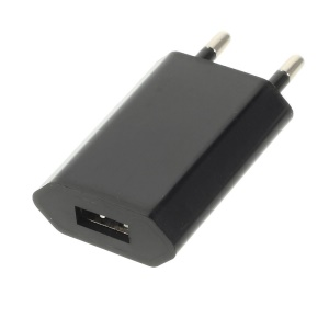 EU Plug 1A USB Power Charger Adapter for iPhone 4S 4 3GS 3G iPod A1300 - Black