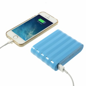 Cube Design Dual USB 12000mAh Backup Power Charger for iPhone iPad Samsung HTC Etc Smartphones & Tablets - Blue