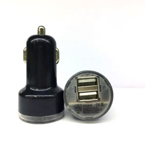 Dual USB Car Charger Adapter for iPad iPhone Samsung Galaxy Tab 2.1A - Black