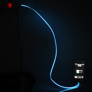 Flashing Lightning to USB Sync Data Charging Cable for iPhone 5 / iPod Touch 5 / Nano 7 / iPad Mini