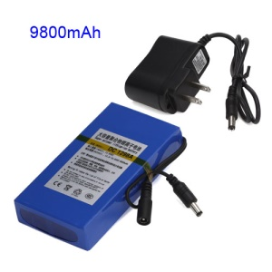 12V 9800mAh Super Polymer Rechargeable Lithium-ion Battery