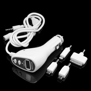 Car FM Transmitter Charger for iPhone 5 4S 4 Samsung HTC Sony BlackBerry