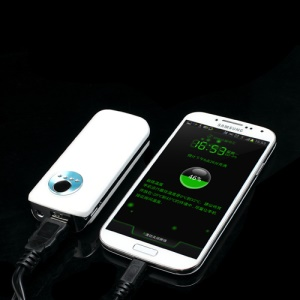 5600mAh External Battery Backup Power Bank Charger for iPhone iPod Samsung HTC LG Sony - White