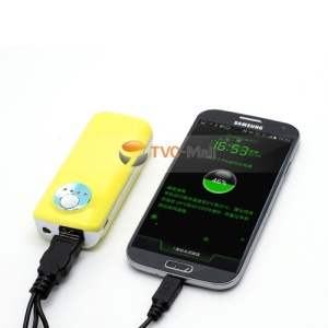 5600mAh External Battery Backup Power Bank Charger for iPhone iPod Samsung HTC LG Sony - Yellow