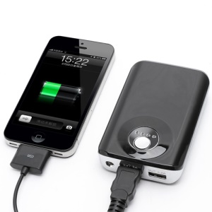 8000mAh External Backup Battery Power Bank with Two USB Outputs for iPhone iPad Samsung HTC LG