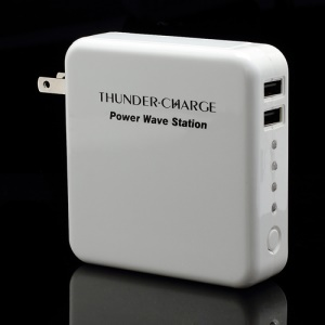 6600mAh Dual USB Extenal Battery Power Move Station for iPad iPhone Samsung HTC LG PDA GPS etc