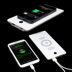 Jerkang JRK-1688 6000mAh Qi Standard Wireless Charger & Mobile Power Bank Combo for Samsung / Nokia / LG / HTC / iPhone - White
