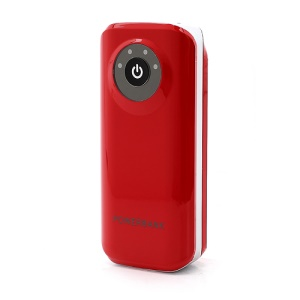 Candy USB Mobile Power Bank Battery Charger with LED Flashlight Indicator for iPhone / Samsung / HTC etc 5600mAh - Red