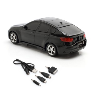 6800mAh Car Shaped Power Bank with LED Display for iPhone iPad iPod Samsung HTC LG Nokia GPS etc - Black