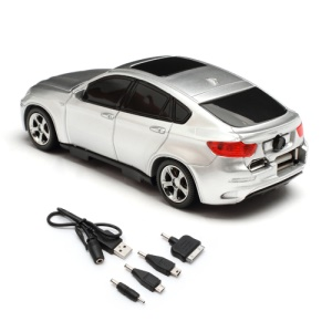 6800mAh Car Shaped Power Bank with LED Display for iPhone iPad iPod Samsung HTC LG Nokia GPS etc - Grey