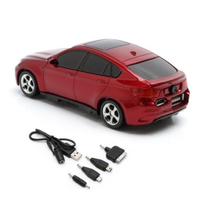 6800mAh Car Shaped Power Bank with LED Display for iPhone iPad iPod Samsung HTC LG Nokia GPS etc - Red