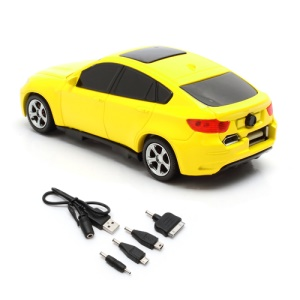 6800mAh Car Shaped Power Bank with LED Display for iPhone iPad iPod Samsung HTC LG Nokia GPS etc - Yellow