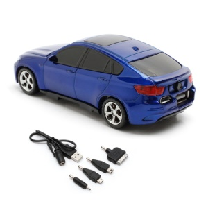 6800mAh Car Shaped Power Bank with LED Display for iPhone iPad iPod Samsung HTC LG Nokia GPS etc - Blue