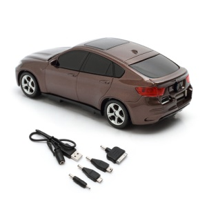 6800mAh Car Shaped Power Bank with LED Display for iPhone iPad iPod Samsung HTC LG Nokia GPS etc - Coffee