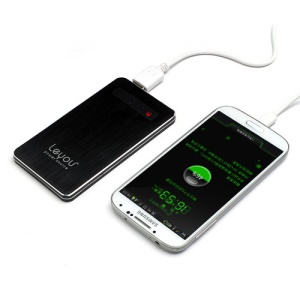 5000mAh Leyou LY750 Brushed Power Bank External Battery Charger for iPhone iPad iPod Samsung HTC LG Sony - Black