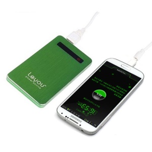 5000mAh Leyou LY750 Brushed Power Bank External Battery Charger for iPhone iPad iPod Samsung HTC LG Sony - Green