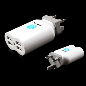 Star Go 4.1A 4-Port USB Travel Charger Adapter for iPhone iPad iPod Samsung HTC Sony etc - UK Plug