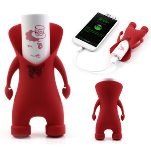 Red Ouleibai 2600mAh Cute Cartoon Power Bank for iPhone Samsung HTC Sony Smartphone Etc