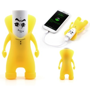Yellow Ouleibai Funny Cartoon External Power Bank for iPhone Samsung HTC Sony Smartphone Etc