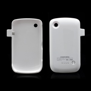 BlackBerry Curve 8520 Power Pack Battery Charger Case 1800mAh - White
