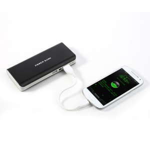 8000mAh External Power Bank Dual USB Battery Charger for iPhone iPad iPod Samsung HTC Sony LG - Black