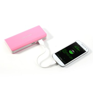 8000mAh Dual USB Power Bank Battery Charger for iPhone iPad iPod Samsung HTC Sony LG - Pink