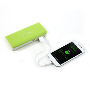 8000mAh Portable Dual USB Power Bank for iPhone iPad iPod Samsung HTC Sony LG - Green