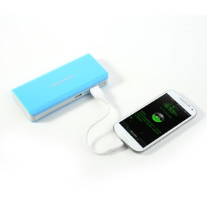 8000mAh Portable Dual USB Power Bank Charger for iPhone iPad iPod Samsung HTC Sony LG - Blue