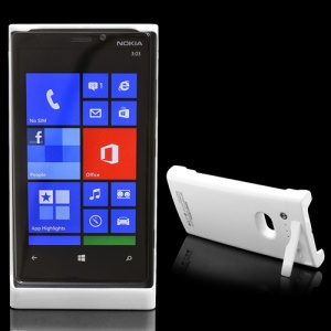 2200mAh Power Bank External Battery Charger Case w/ Stand for Nokia Lumia 920 - White