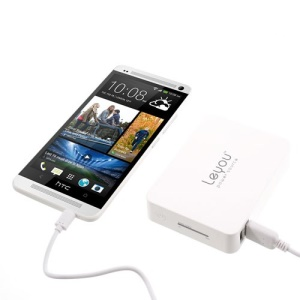White Leyou LY-900 11200mAh 2 USB Output Mobile Power Bank for iPhone iPad Samsung HTC Sony