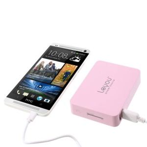 Pink Leyou LY-900 11200mAh 2 USB Output Mobile Power Bank for iPhone iPad Samsung HTC Sony