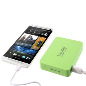 Green Leyou LY-900 11200mAh 2 USB Output Mobile Power Bank for iPhone iPad Samsung HTC Sony