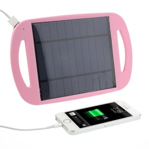 Pink Universal 2.5W 500mA Sun Power Panel Solar Charger Pad w/ Stand for iPhone iPad Samsung HTC MP3