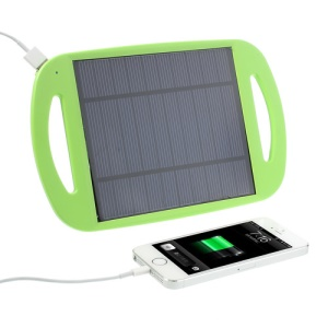 Green Universal 2.5W 500mA Sun Power Panel Solar Charger Pad w/ Stand for iPhone iPad Samsung HTC MP3