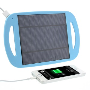 Blue Universal 2.5W 500mA Sun Power Panel Solar Charger Pad w/ Stand for iPhone iPad Samsung HTC MP3