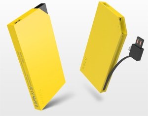 Yellow IHAVE Delta Series 6000mAh 2 USB Output Power Bank for iPad iPhone iPod Phones Tablets