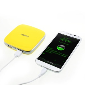 Yellow Galilio i6 6000mAh 2 USB Output Power Bank for iPhone iPod Samsung HTC LG etc